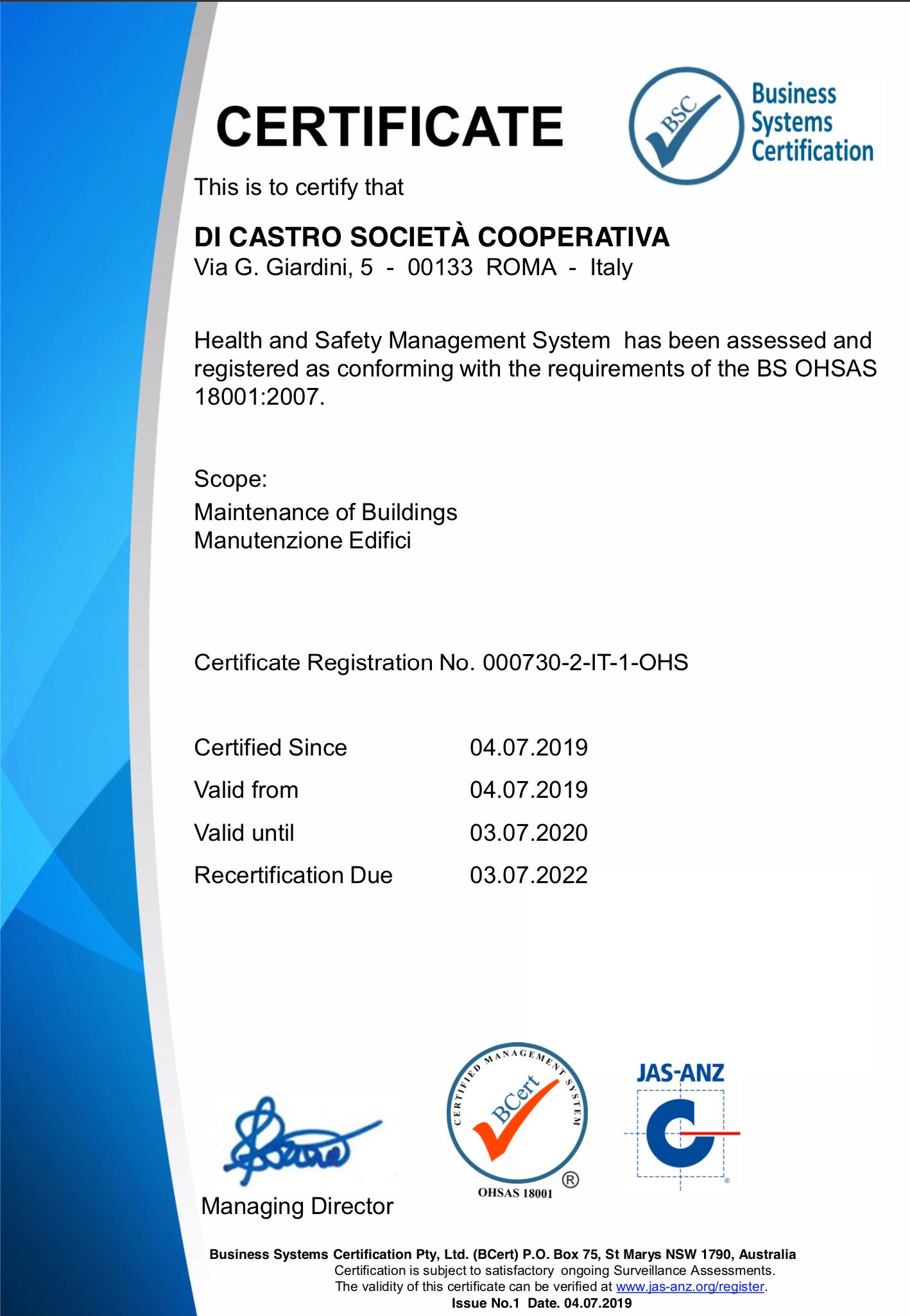 Certificazione-18001-dicastrosoccoop
